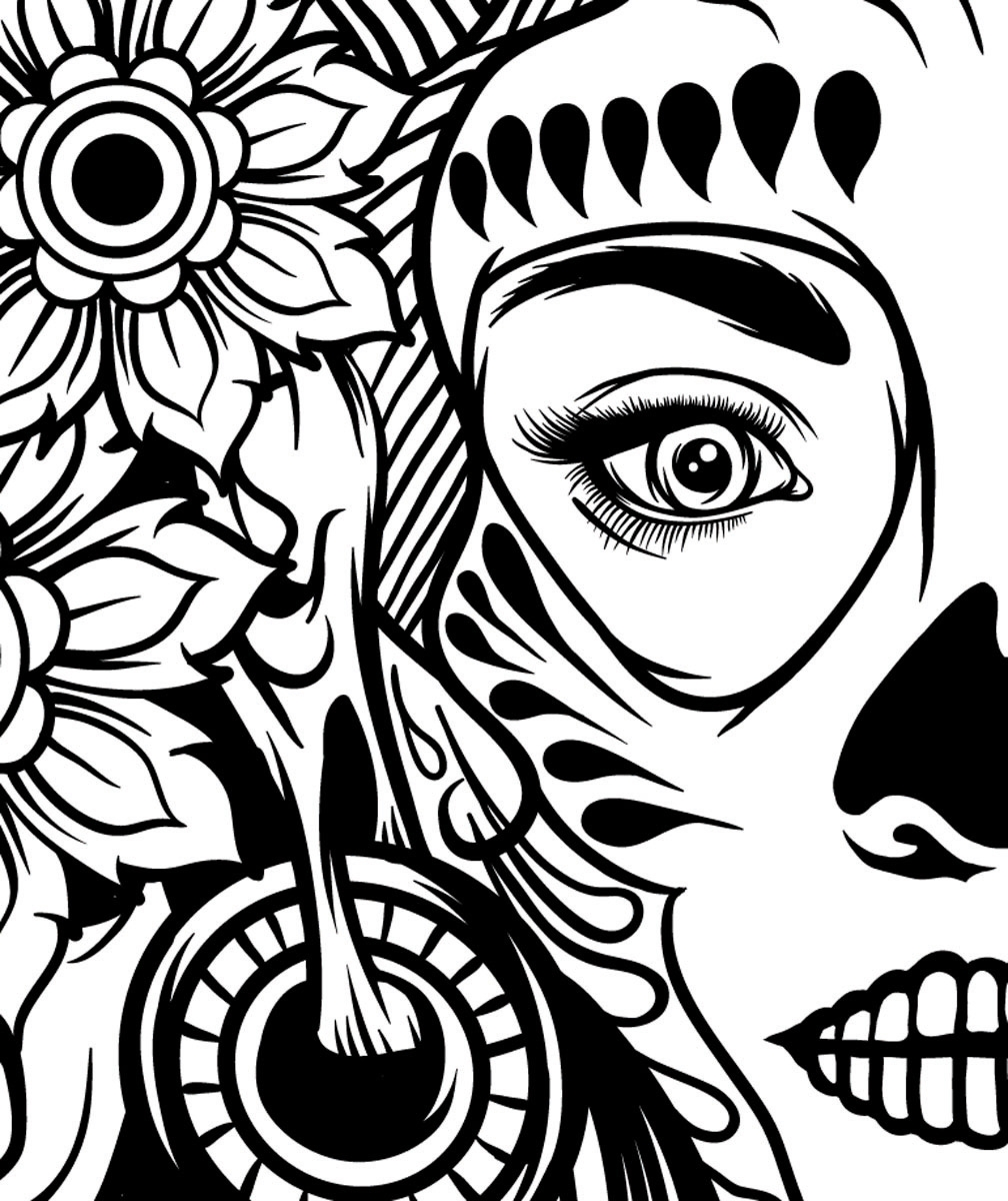 adobe illustrator tutorial create a death goddess inspired by mexico s day of the dead. Black Bedroom Furniture Sets. Home Design Ideas