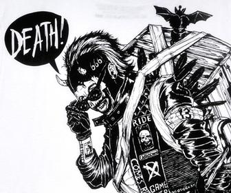 Boneface turns the Four Horseman into bikers for new T-shirt line