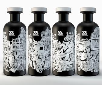 See the awesome whisky bottles designed for Purple's 20th birthday