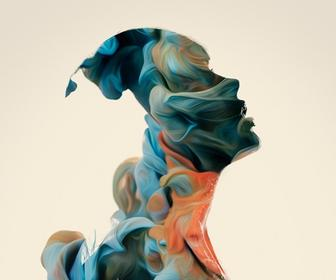 Alberto Seveso's abstract nudes fill silhouettes with ribbons of light