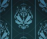 Design repeating Damask patterns