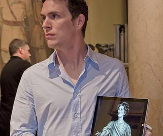 Digital biro art: James Mylne recreates three artworks from the National Portrait Gallery on a Surface Pro 3 tablet