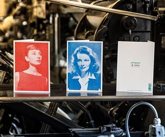 These cards feature striking halftone photos of Hollywood screen legends