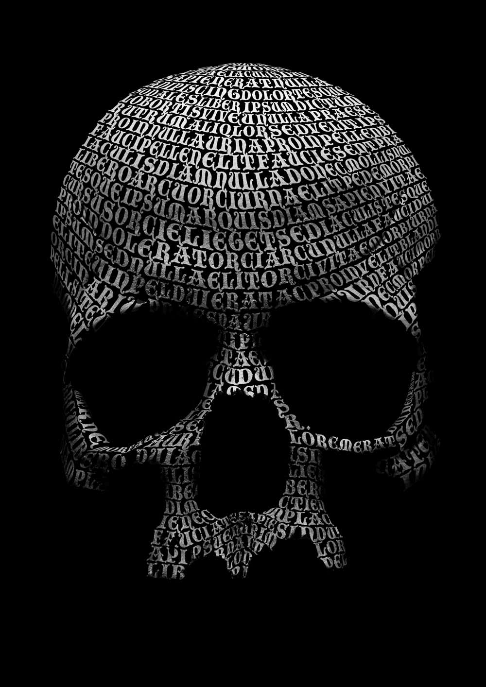Photoshop tutorial create a skull out of type digital arts this striking slightly gothic image shows how effective type can be as a creative element even when it doesnt actually say anything in this tutorial baditri Gallery