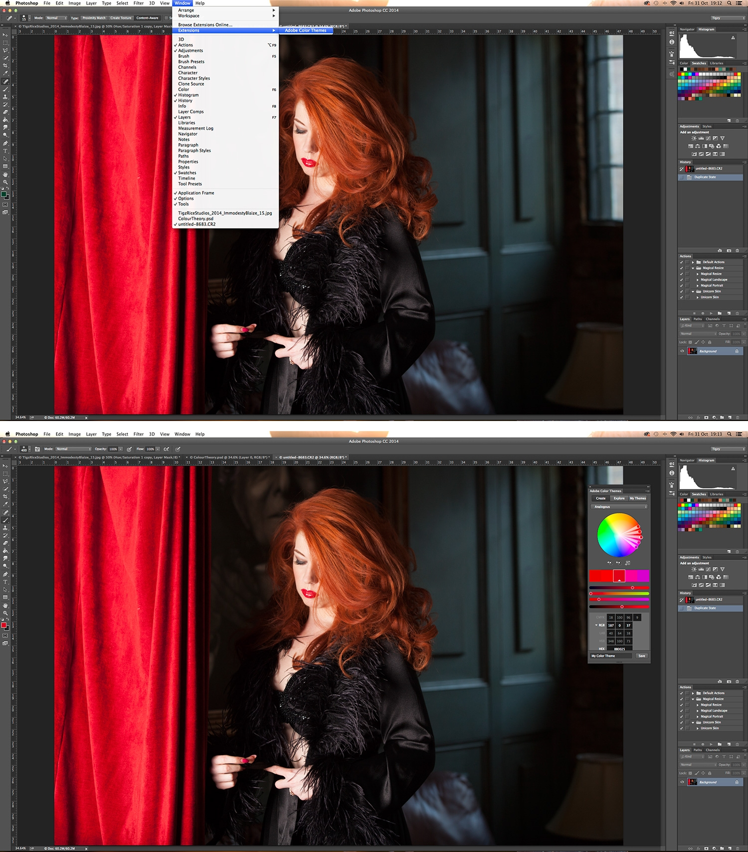 Color adobe online - Photoshop Tutorial Use Colour Theory To Balance A Photo S Colours Using Photoshop Cc S Color Panel Or Photoshop S Kuler Panel Digital Arts