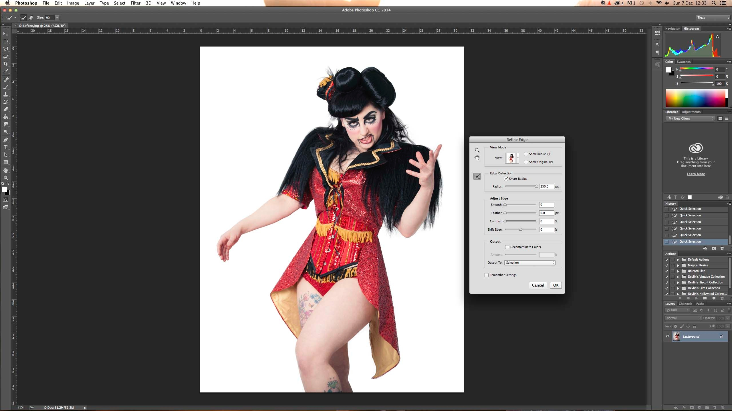 how to cut around an image in photoshop
