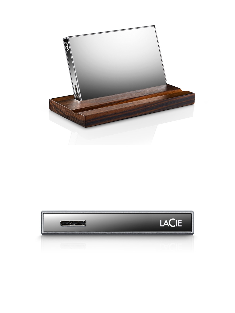Glass Hard Drive : The lacie mirror is a truly stylish hard drive encased in