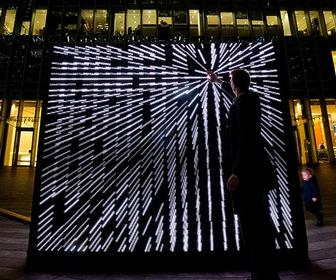 10 interactive artworks light up Canary Wharf