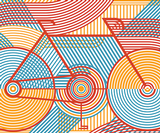 These graphic cycling posters by Anne Ulku are rather beautiful