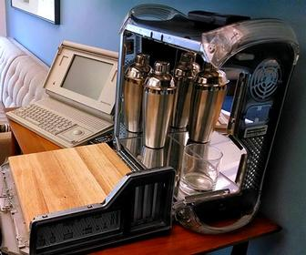 Meet the man who builds portable bars inside old Apple Power Mac G4s