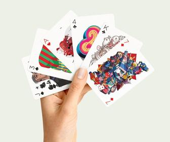 Illustrated playing cards: This deck features wonderful artworks by 55 illustrators from around the world
