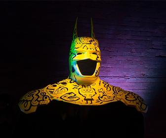 See Jon Burgerman, Pure Evil and other artists' customised Batman costumes for the Arkham Knight exhibition