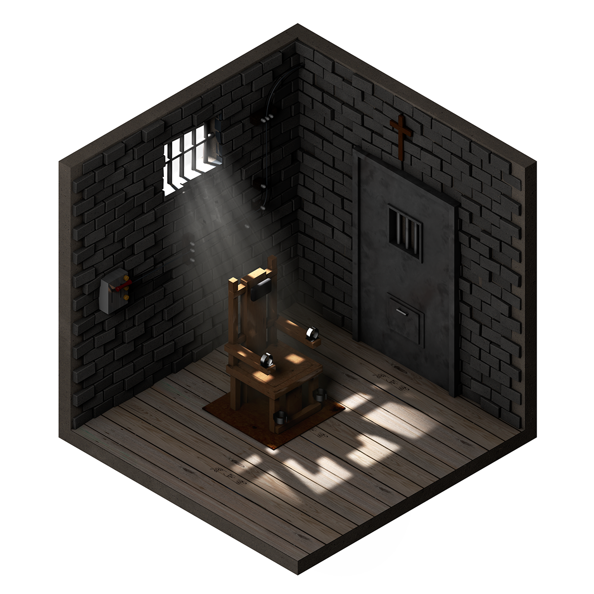 These low poly isometric artworks feature miniature rooms for Unity 3d room design