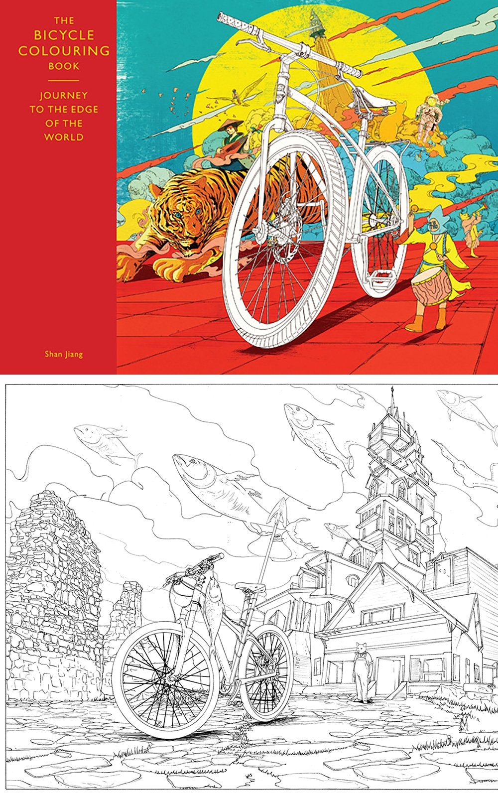 Make a coloring book page with photoshop - Buy The Bicycle Colouring Book From Amazon