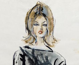 See unseen and rediscovered art from Canada's best fashion illustrator