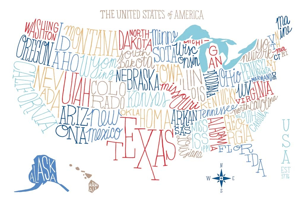 Brilliant Tips For Creating Illustrated Maps Digital Arts - Artistic map of us