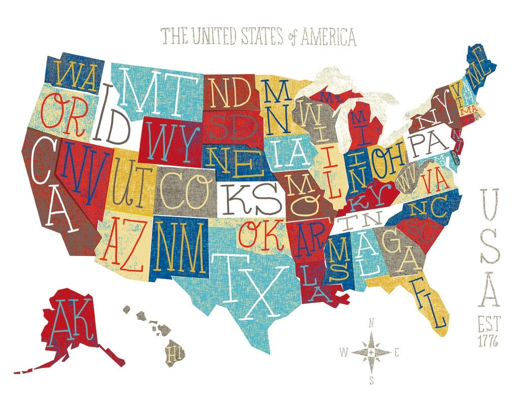 Brilliant Tips For Creating Illustrated Maps Digital Arts - Usa map graphic