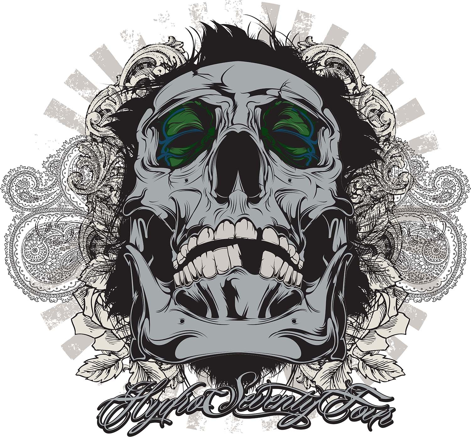 Adobe illustrator tutorial create awesome vector skull for How to design a shirt in illustrator