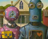See the satirical mechanical character art on show at the Robot Carnival