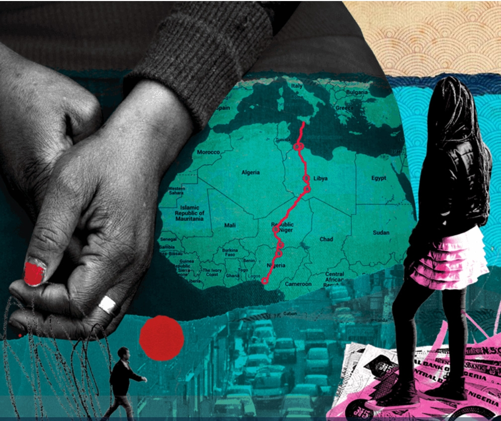 See Michelle Thompson's hard-hitting collages for the FT's human trafficking appeal