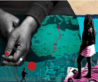 See Michelle Thompsons hard-hitting collages for the FTs human trafficking appeal
