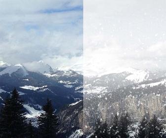 Add snow to a photo in Photoshop