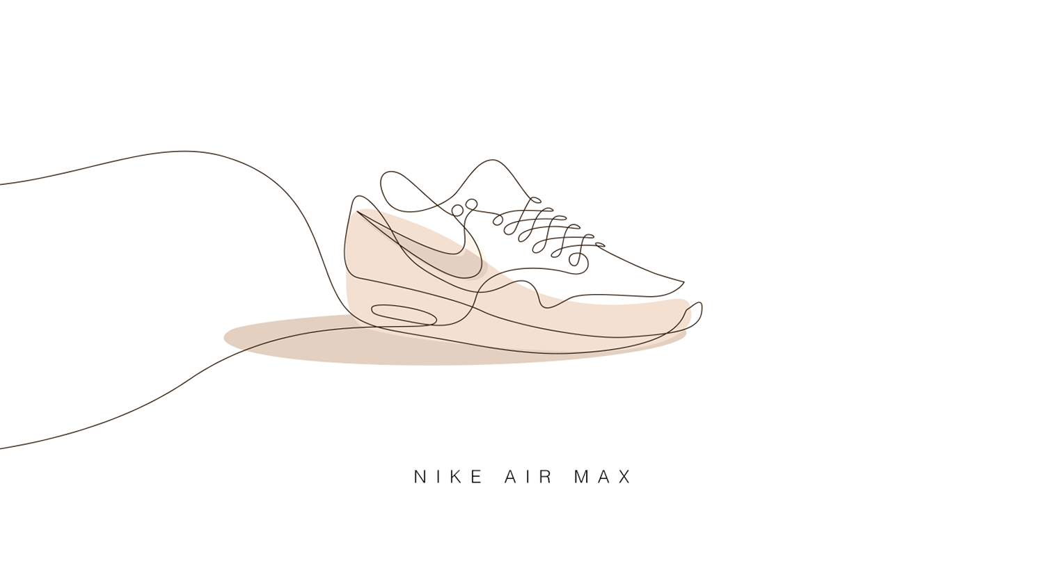 Line Art Illustration : Famous sneakers drawn with one line digital arts