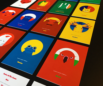 Each UEFA Euro 2016 country is given an animal in these fun, illustrated cards