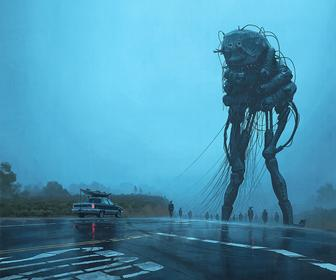 Simon Stålenhag's Incredible New Paintings Show an Alien Invasion That has Gone Wrong