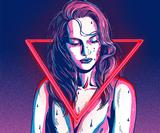These Neon Demon Illustrations are Both Seductive and Pretty Scary