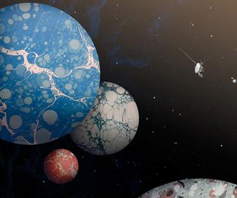 These Breathtaking, Beautiful Posters Imagine Planets made of Marbled Paper