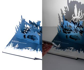 Point a Torch at this Pop-up Book and Creatures Appear in the Shadows it Casts