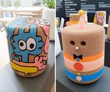 16 top illustrators & designers have customised Casper cork stools for a refugee charity