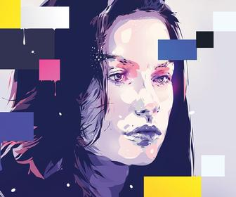 Create a brand new style of vector portrait