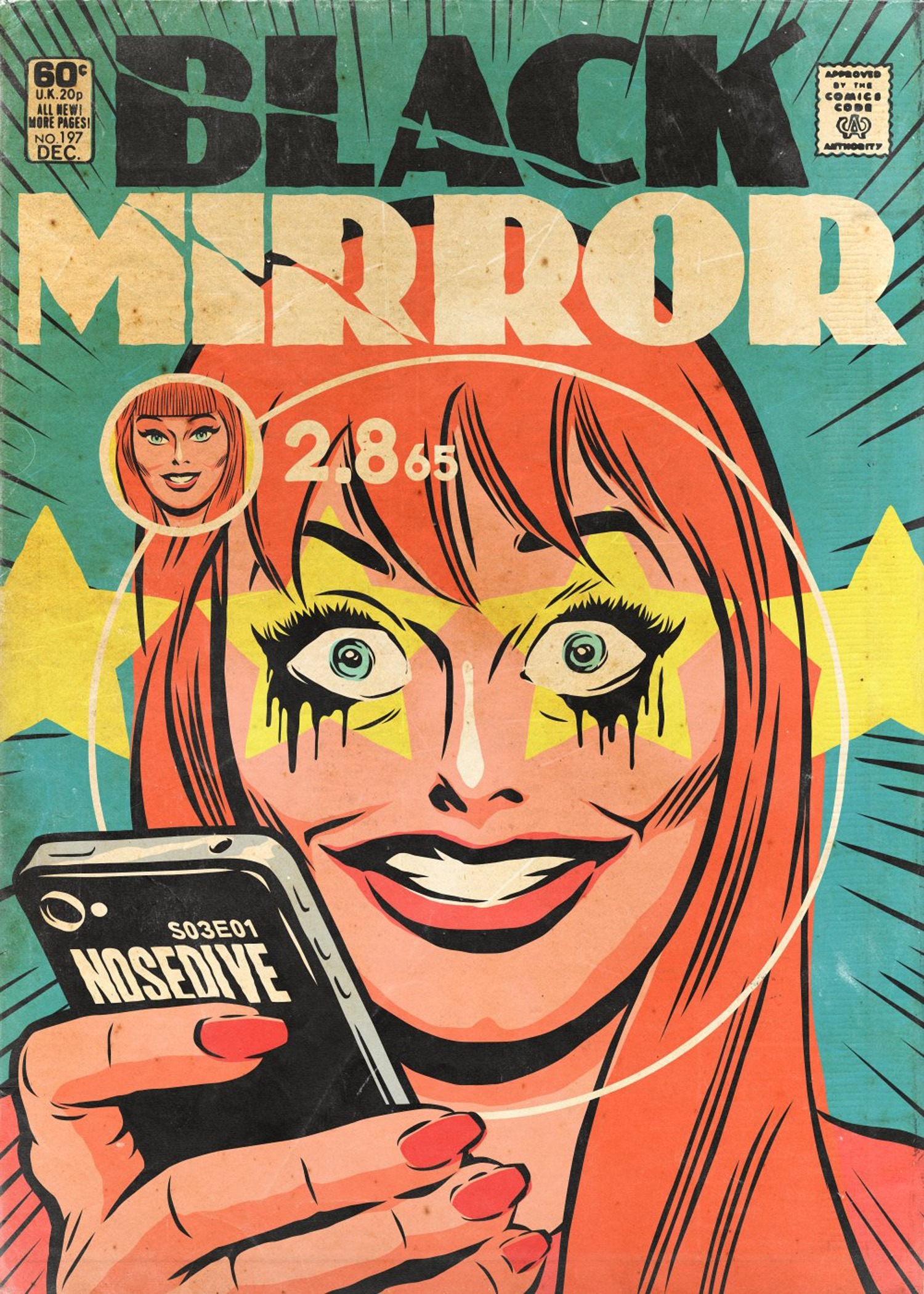 Minimalist Comic Book Covers : More black mirror episodes turned into golden age comic