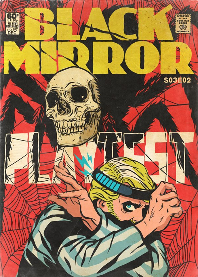 Book Cover Black Mirror : More black mirror episodes turned into golden age comic