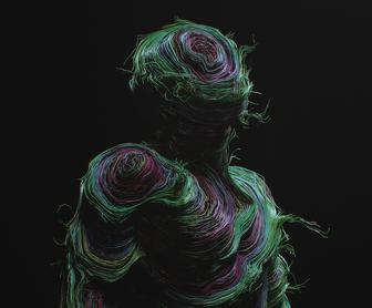 Dario Veruari creates incredible, ethereal human forms from multicoloured threads