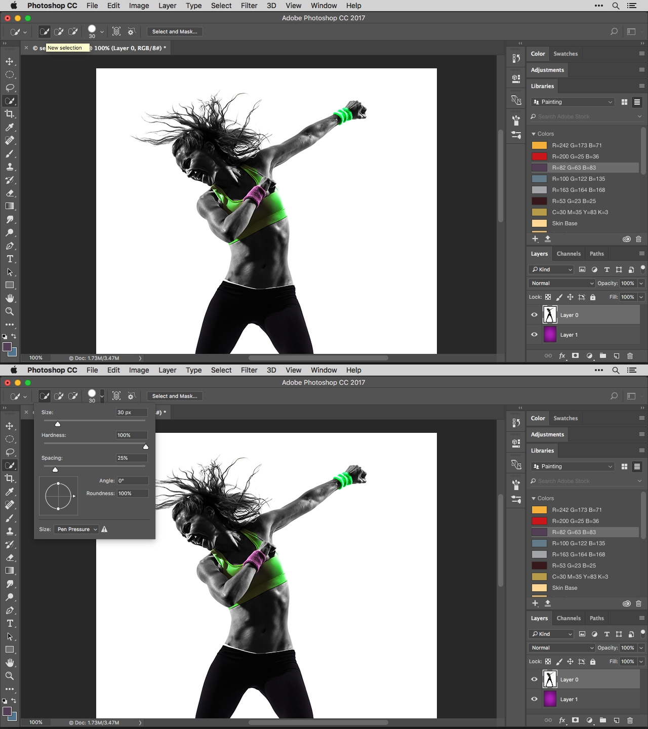 Master photoshops select mask workspace digital arts you can do this using a variety of different tools but i prefer the quick selection tool baditri Images