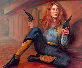 Felice Houses new paintings replace famous cowboys with women