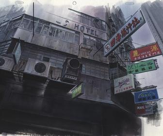 See concept art from the original Ghost in the Shell anime