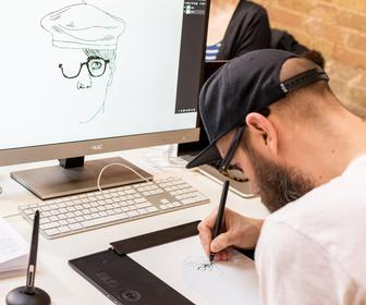 How Little White Lies' creative director designs and illustrates with Wacom's new tablet