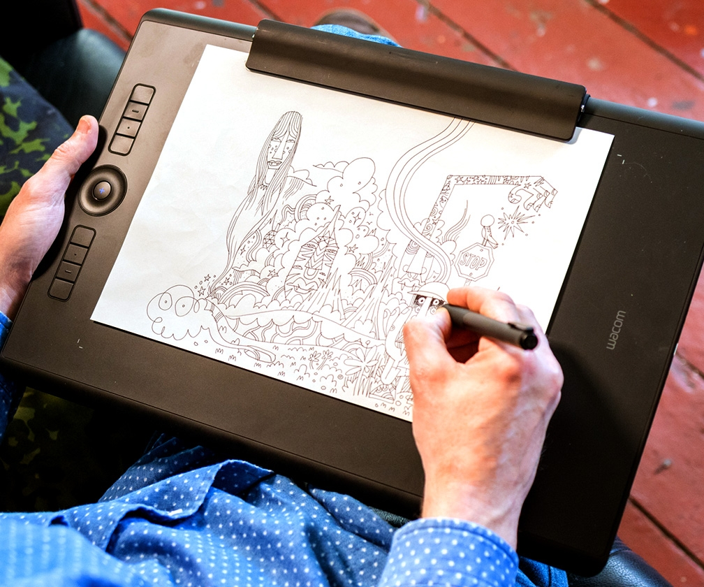 Draw on paper and screen at the same time, with the new Wacom Intuos Pro Paper Edition