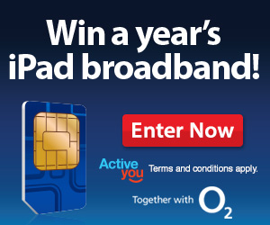 Win a year's iPad broadband!